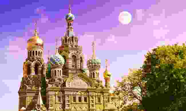 Church of the Saviour on Spilled Blood during White Nights in St Petersburg (Shutterstock)
