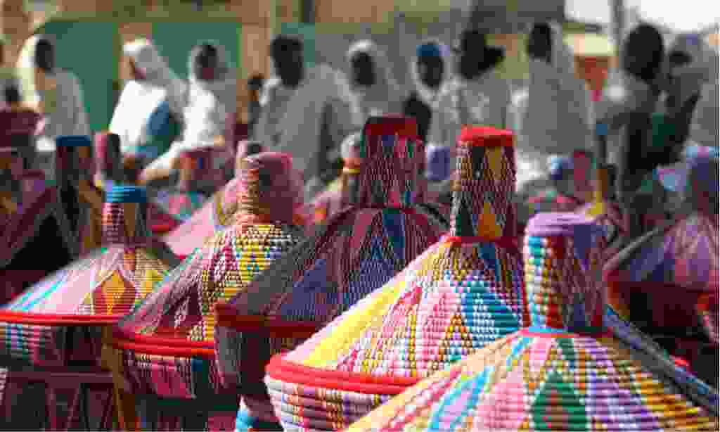 Colourful baskets at the market in Axum, Ethiopia (Shutterstock)