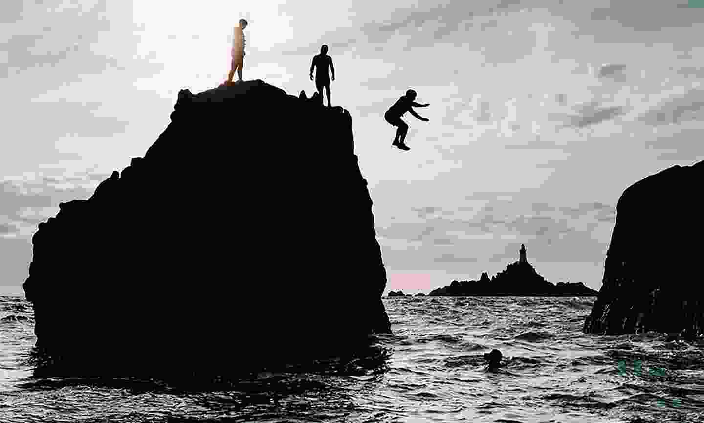Brave the plunge by jumping from Jersey's headlands (Visit Jersey)