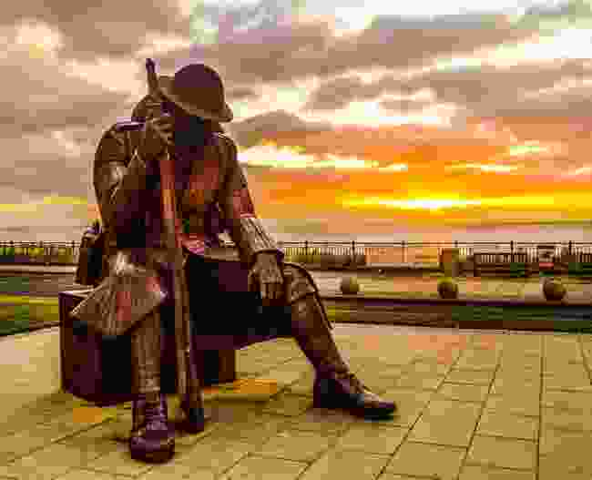 Tommy Statue on the seafront at Seaham (England's Coast)