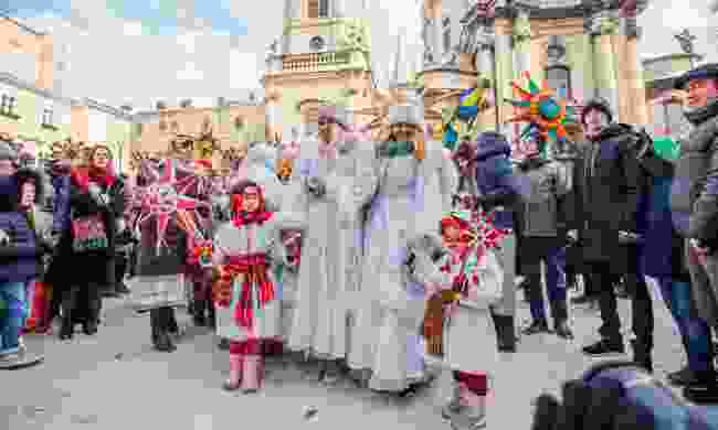 Celebrating Orthodox Christmas in Lviv (Shutterstock)