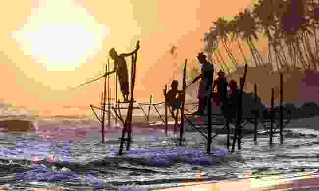 Stilt fishermen in Sri Lanka (Shutterstock)