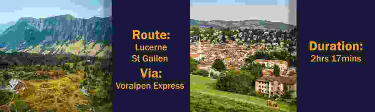 Route: Lucerne – St Gallen, via the Voralpen Express; Duration: 2hrs 17mins (Switzerland Tourism Board)