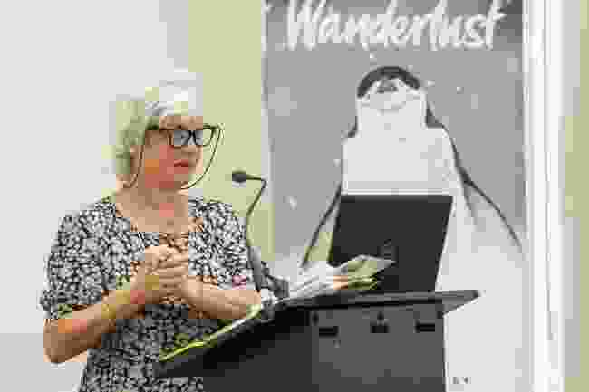 Sara Wheeler delivers her keynote speech (Victoria Middleton)