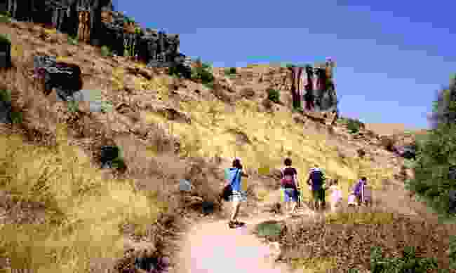Hikers in the peaceful  Ihlara Valley (Dreamstime)