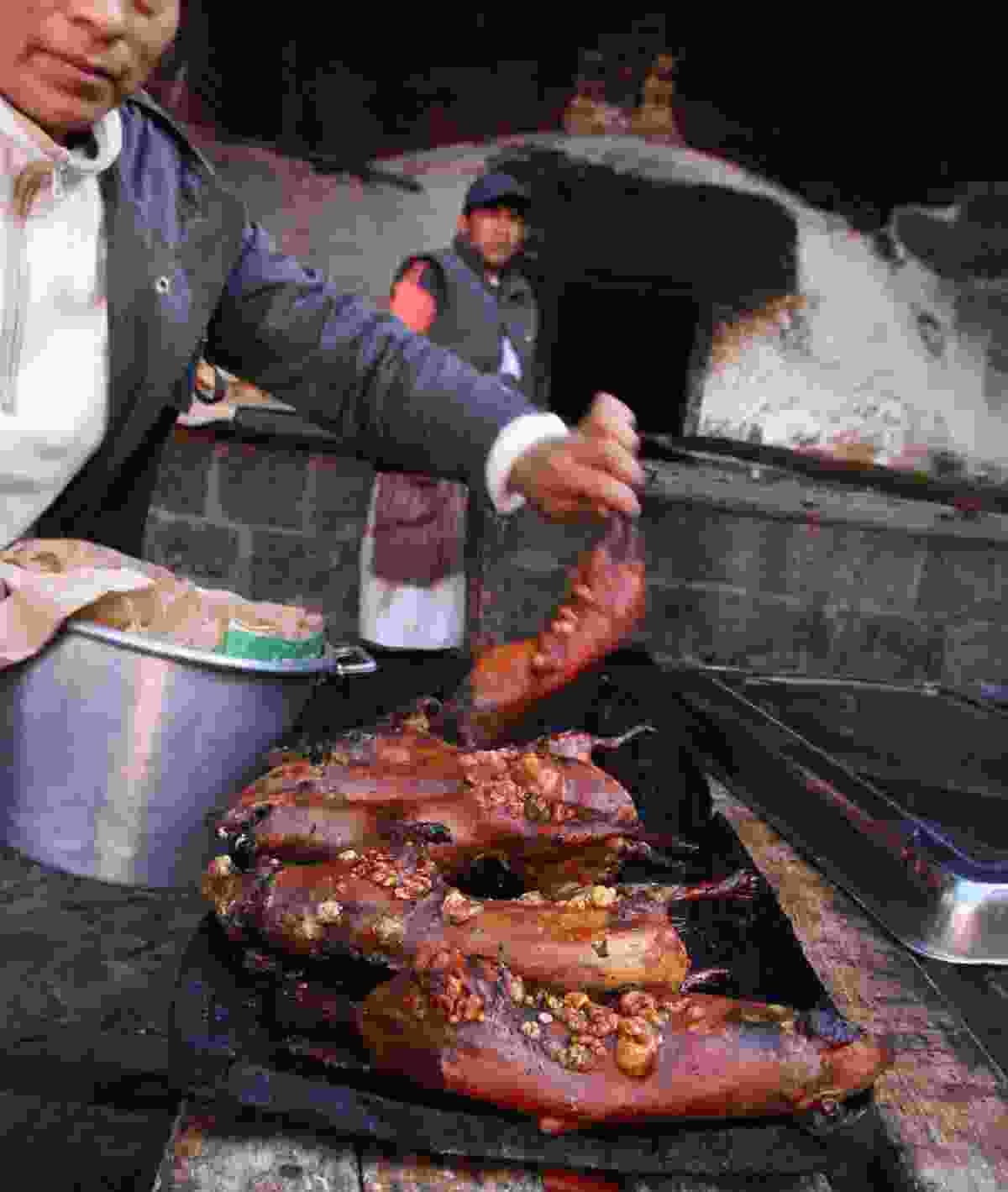 A pachamanca feast takes a fair bit of effort to prepare (Paul Bloomfield)