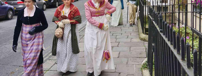 Austen fans in period dress in Bath (Dreamstime)