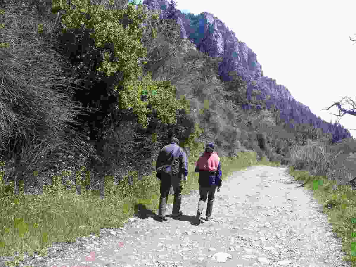 Nandini and her husband hike through the quiet Kadisha Valley, Lebanon (Nandini Chakraborty)