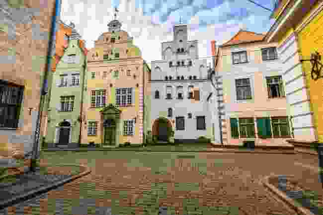 The Three Brothers are the oldest buildings in Riga, left (Dreamstime)