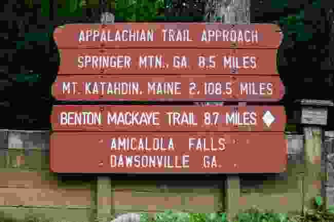 A sign marking the Appalachian Trail, USA (Shutterstock)