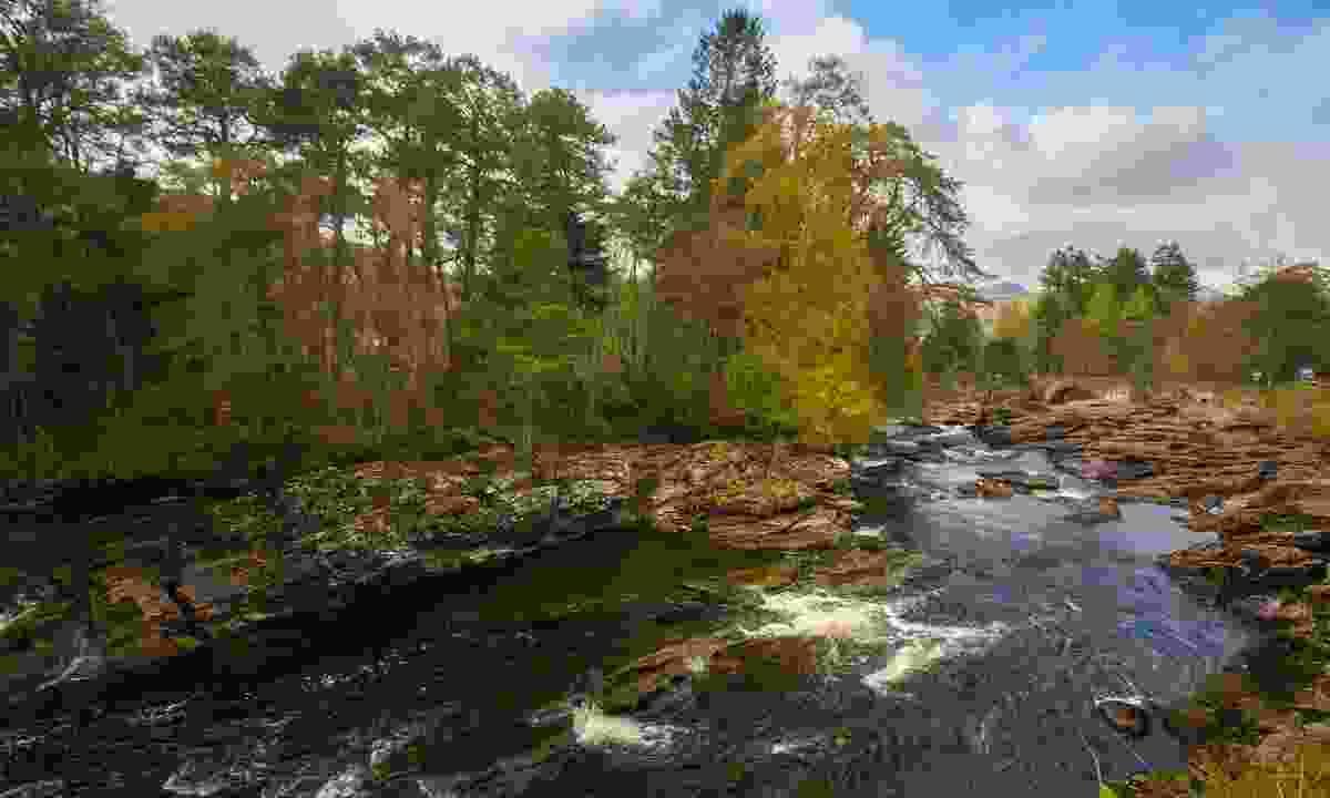 The Falls of Dochart in the village of Killin, Scotland (Dreamstime)