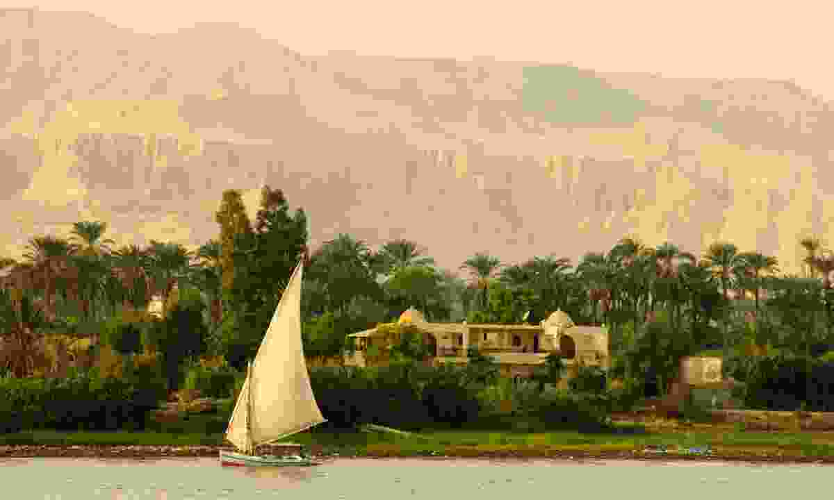 Sail between the temples and tombs of the Pharaohs on a traditional Felucca (Dreamstime)