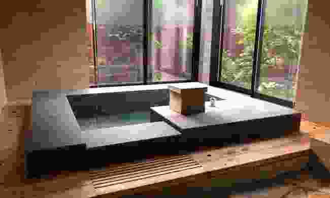Your own private bath inside the Marinetopia villa