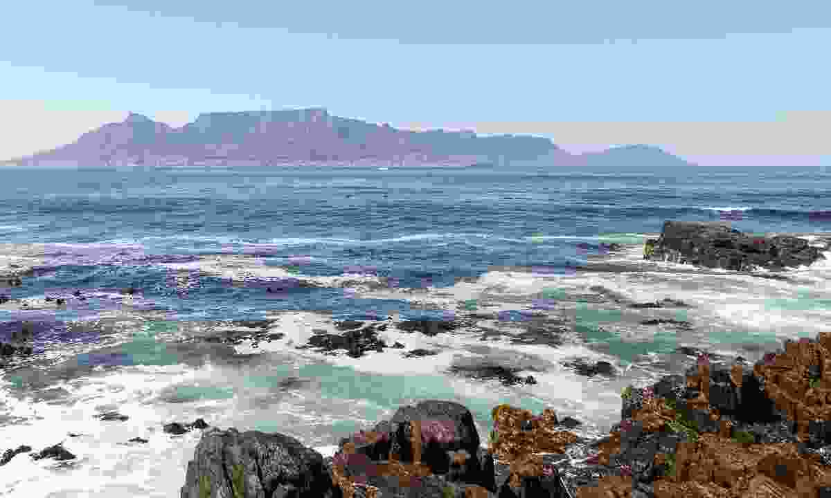 Panorama of Table Mountain, photographed from Robben Island (Dreamstime)