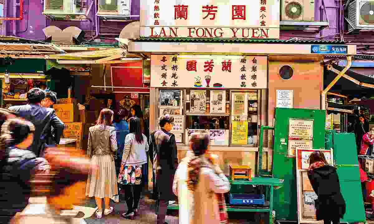 Lan Fong Yuen is a specialist in pouring old-school Hong Kong-style milk tea (Hong Kong Tourism Board)