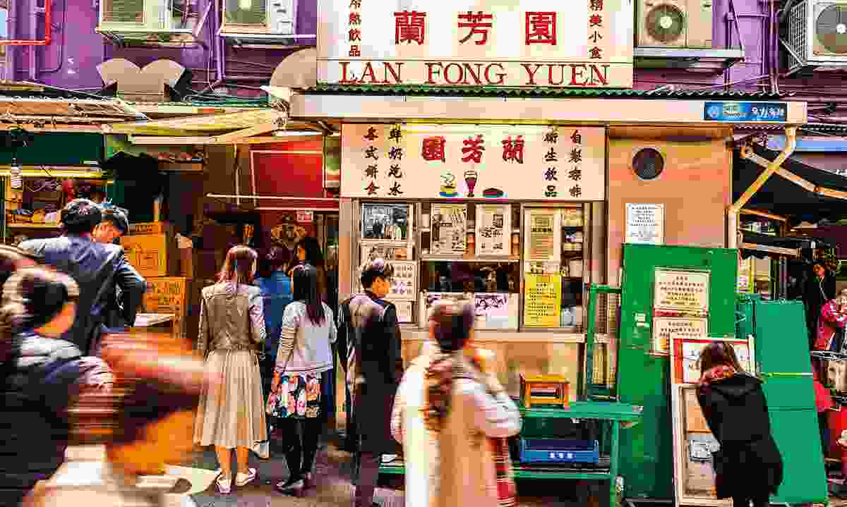 Lan Fong Yuen is a specialist in pouring old-school Hong Kong-style milk tea (Hong Kong Tourism Board)