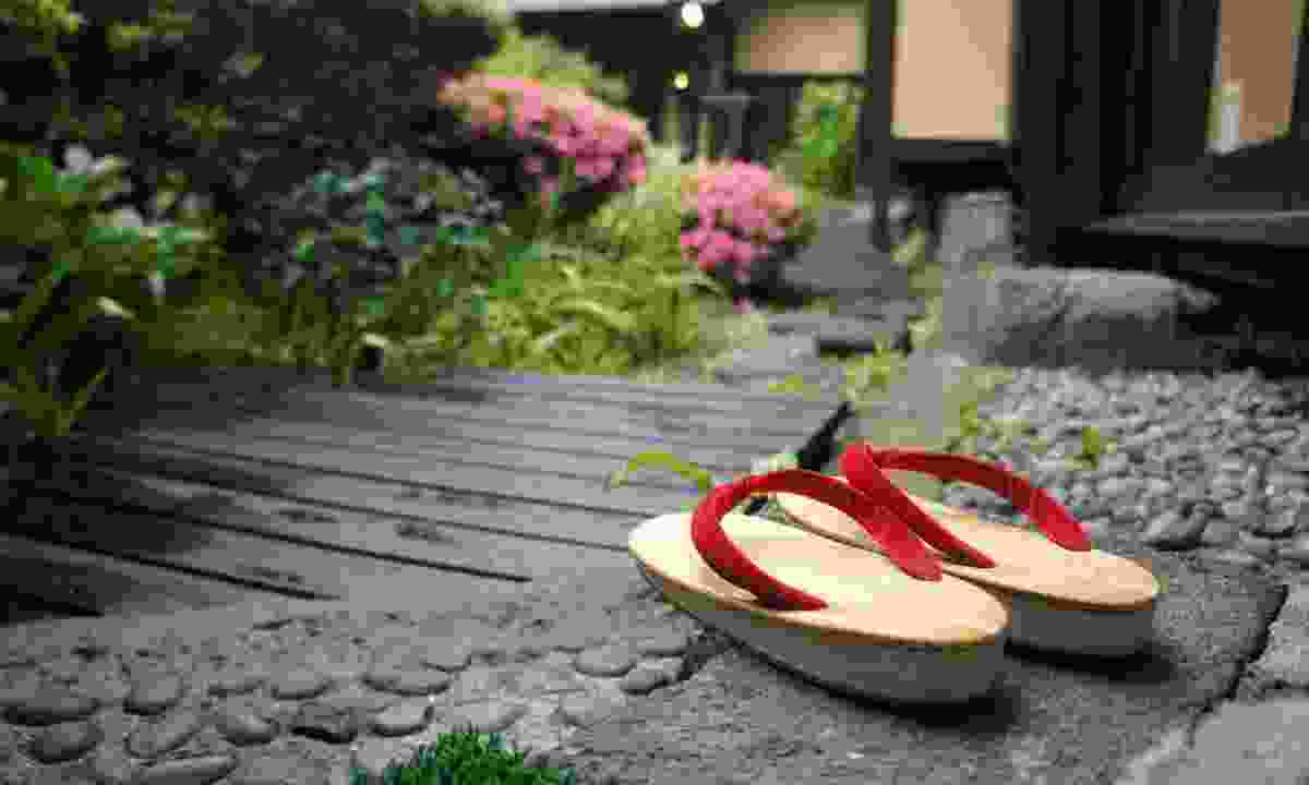 Traditional slippers outside a ryokan (Shutterstock)