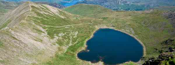 The view from Helvellyn, one of the Lake District's more challenging walks (Dreamstime)