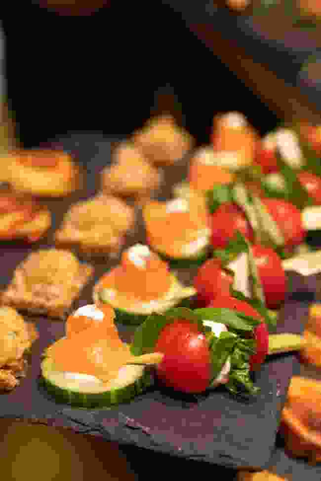 Central American-inspired canapes? Yes, please (Victoria Middleton)