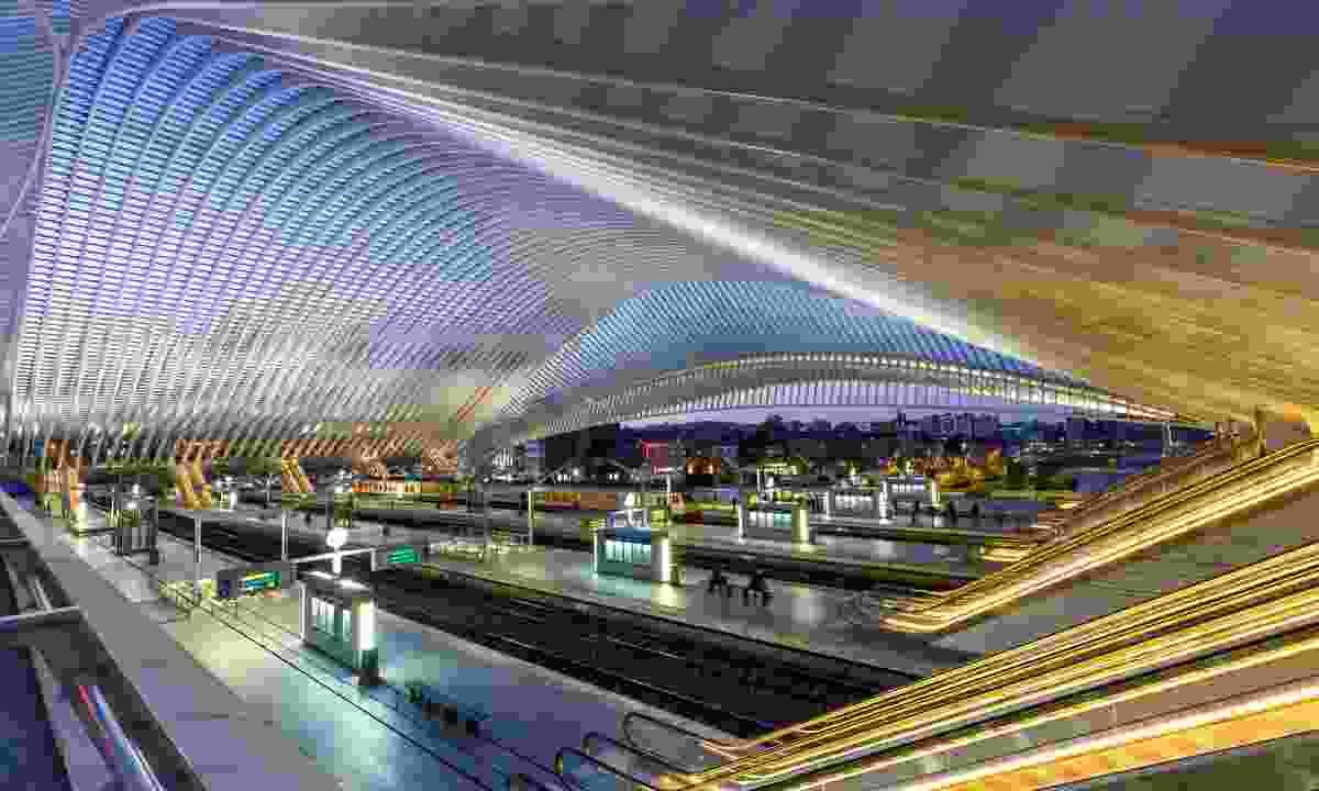 Liège-Guillemins railway station at twilight (Dreamstime)
