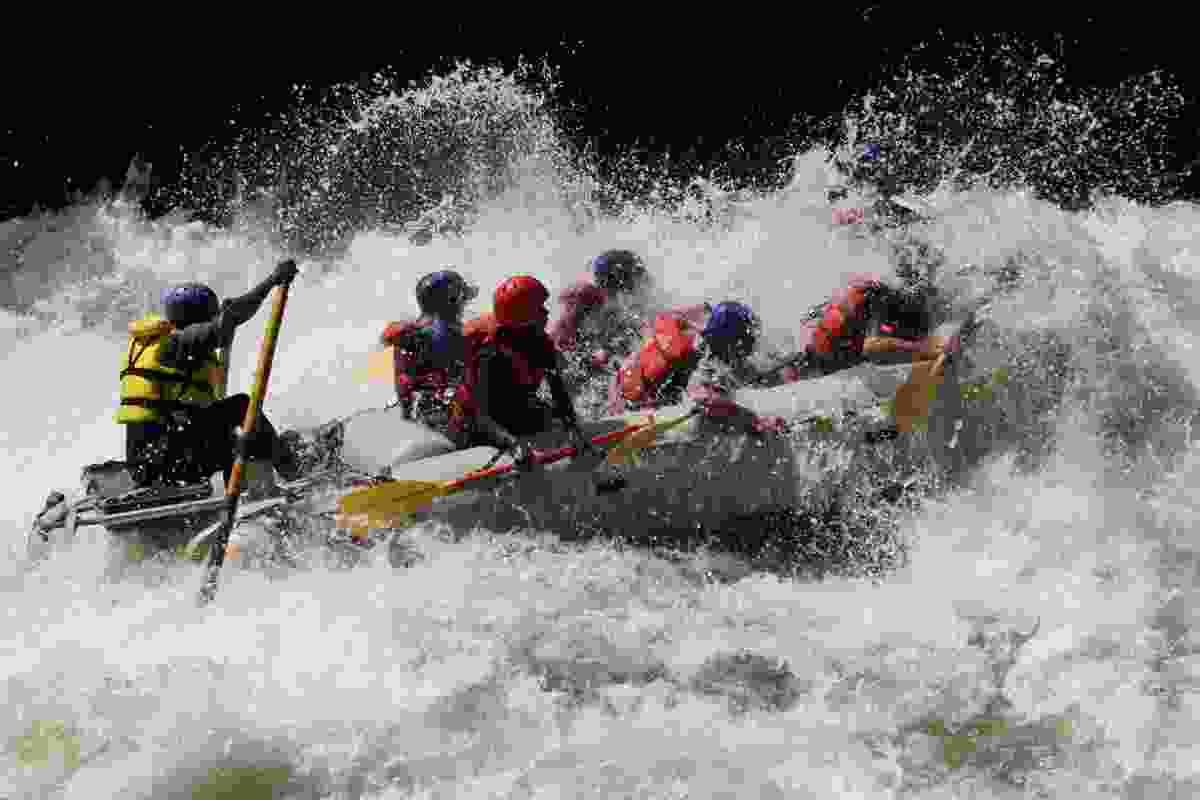 Rafting on the Zambezi. (Dreamstime)
