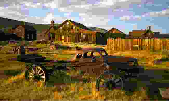Abandoned buildings and vehicles, Bodie, California (Shutterstock)