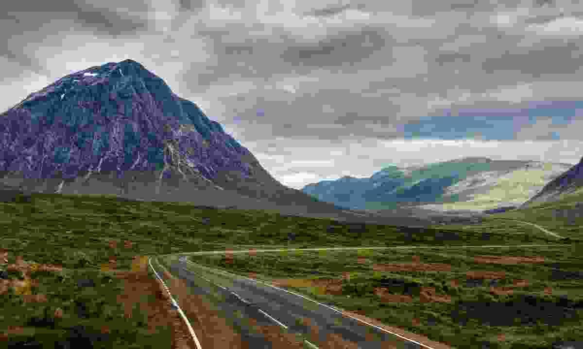 The dramatic A82 winding across the bottom of Ben Lomond, Scotland (Shutterstock)