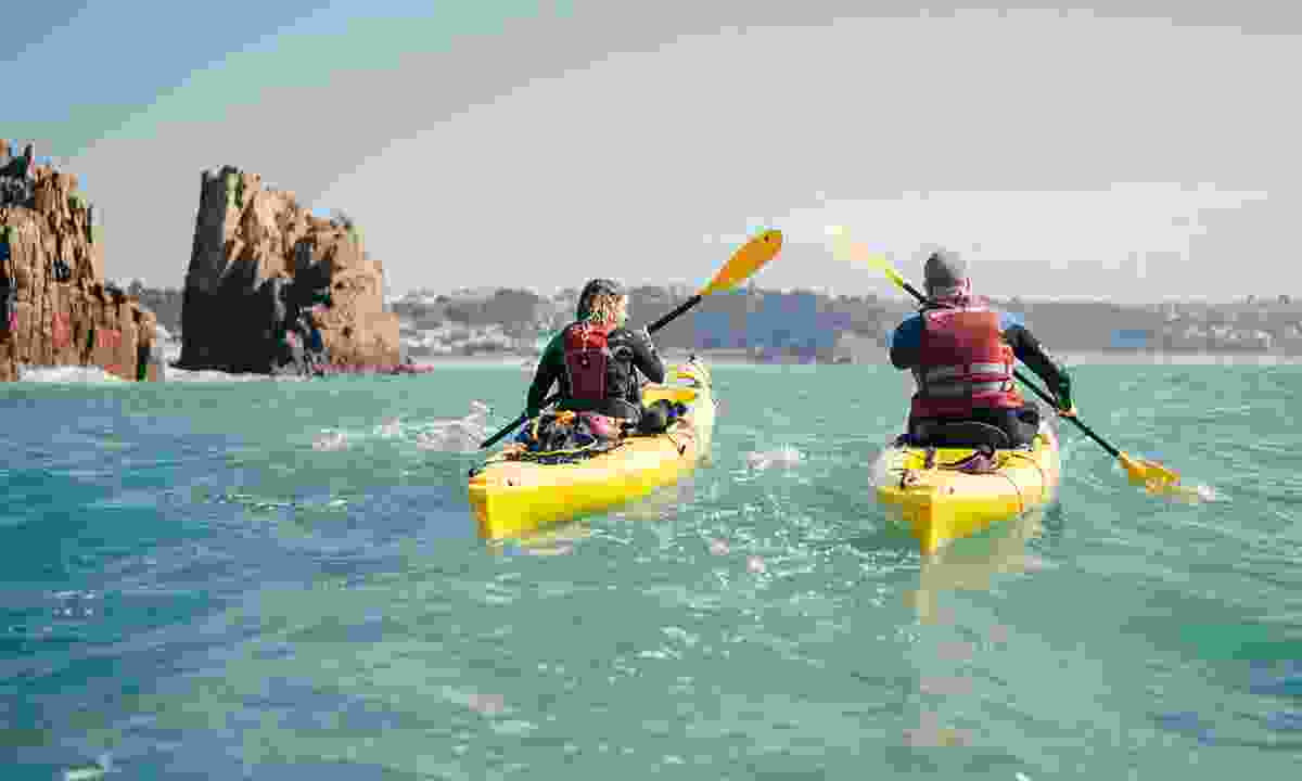 Go kayaking off the coast of Jersey (Visit Jersey)