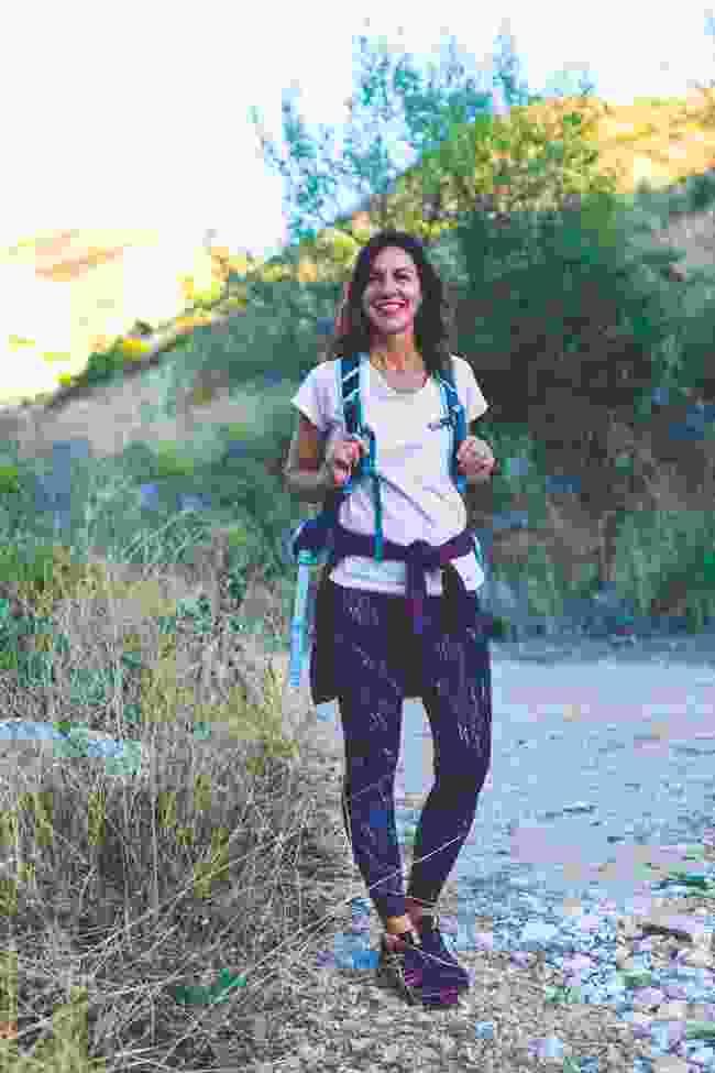 Julia Bradbury in Corfu, ready for a hike (Shutterstock)