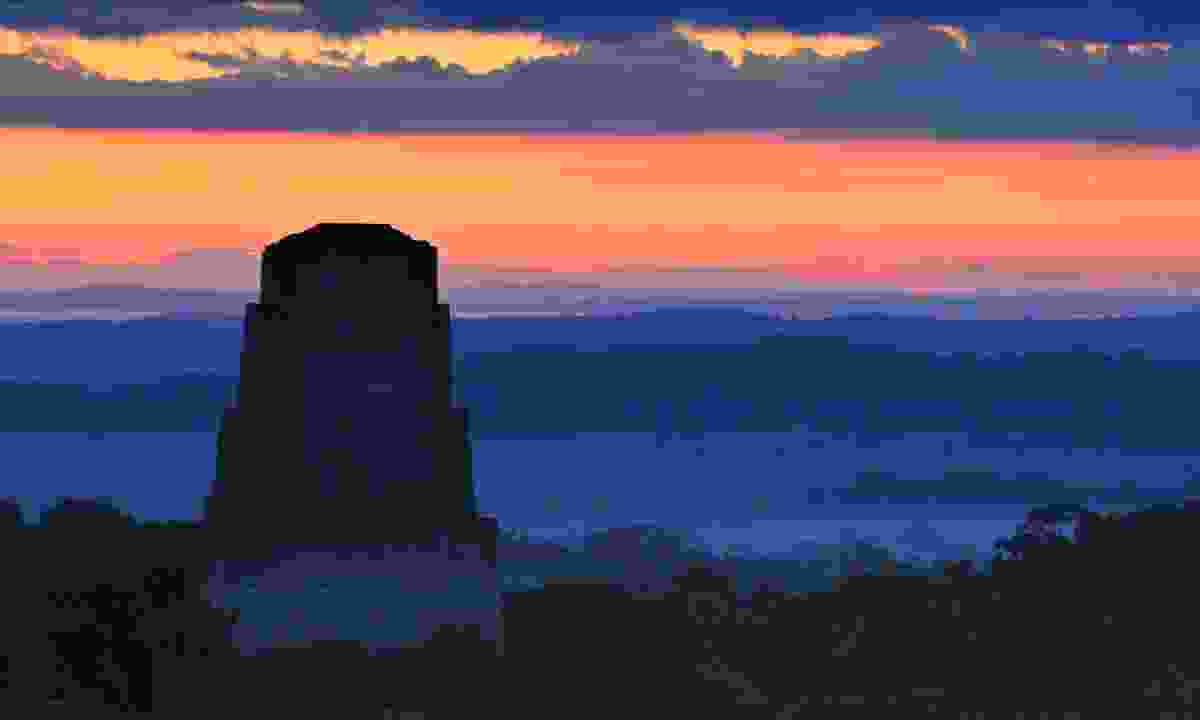Sunset over Tikal (Shutterstock)