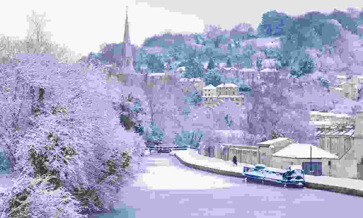 Frozen canal in Bath (Dreamstime)