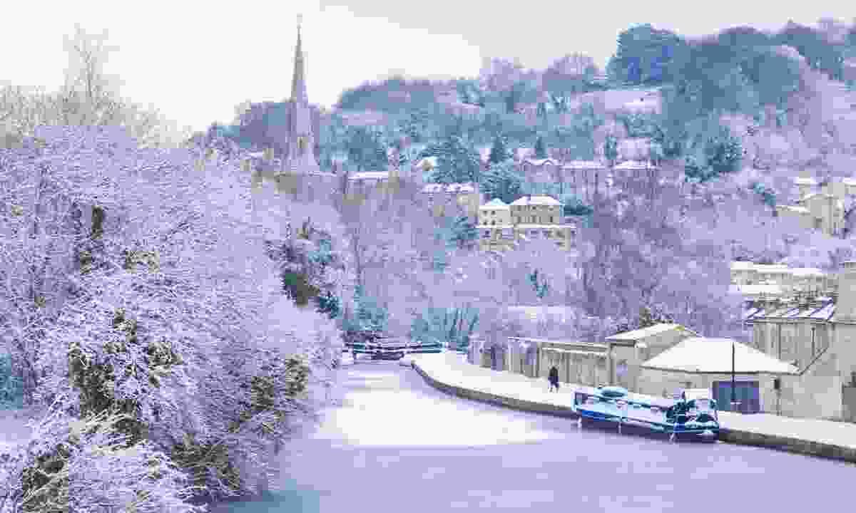 Frozen canal in Bath (Dreamstime)
