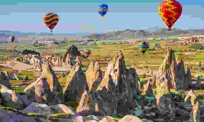 Hot air balloons over Cappadocia (Shutterstock)