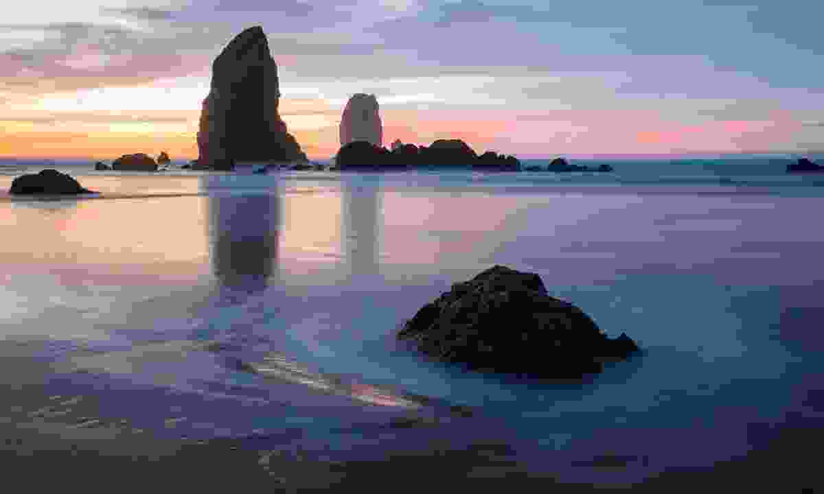 Beautiful Cannon Beach is famous for its Haystack Rock  (Shutterstock)