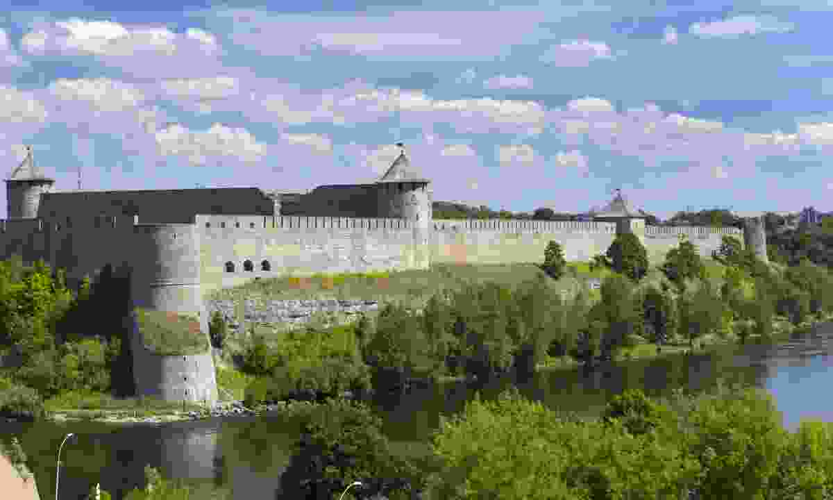 The Ivangorod fortress on border of Russia and Estonia (Dreamstime)