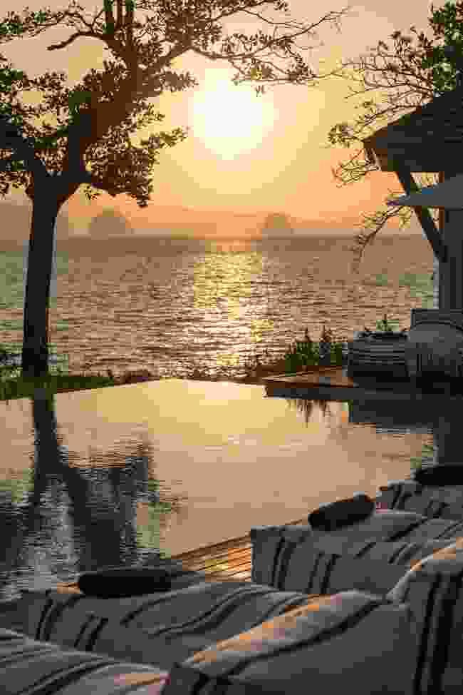 Watching the sun set over Layana Resort on Koh Lanta (Christopher Roche)