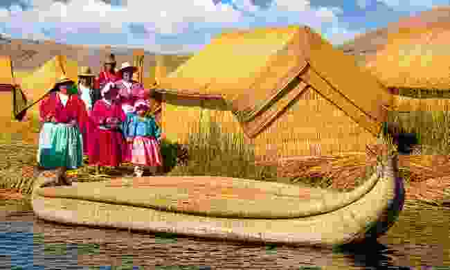 A traditional Peruvian community on Lake Titicaca (Dreamstime)