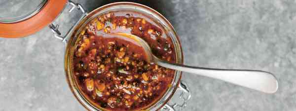 How to make Mexican Peanut Salsa (Aracelli Paz)