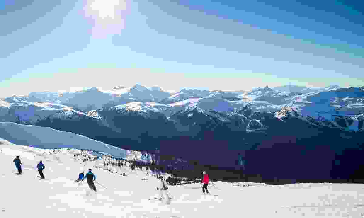 Skiiers at the top of Blackcomb (Shutterstock)