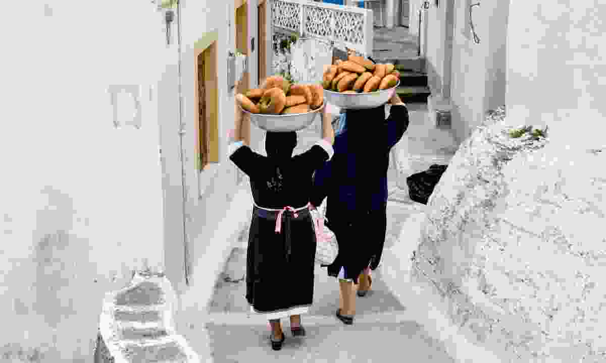 Coming back from the bakers in Olympos (Shutterstock)