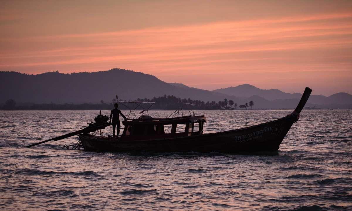 Sunset over Koh Yao Noi (Christopher Roche)