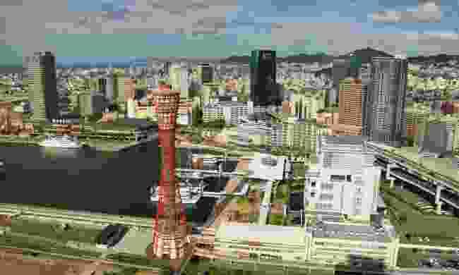 The view from Hotel Okura