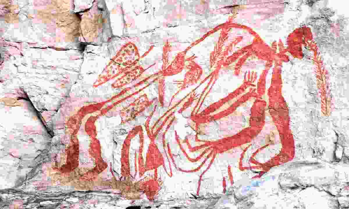 Aboriginal rock art in Australia's Northern Territory (Dreamstime)