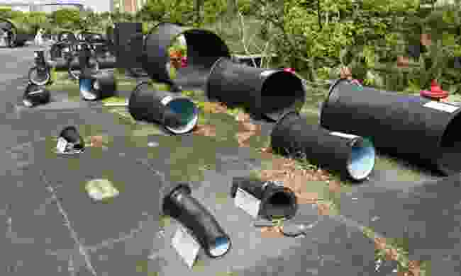 Piping display at the Museum of Drinking Water (Dreamstime)