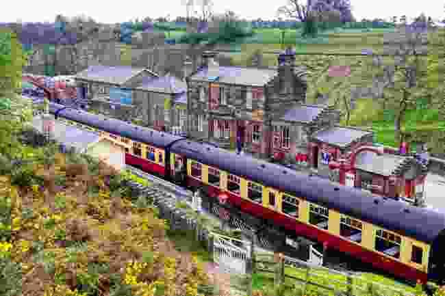 Vintage passenger train on the North York Moors Railway (Shutterstock)