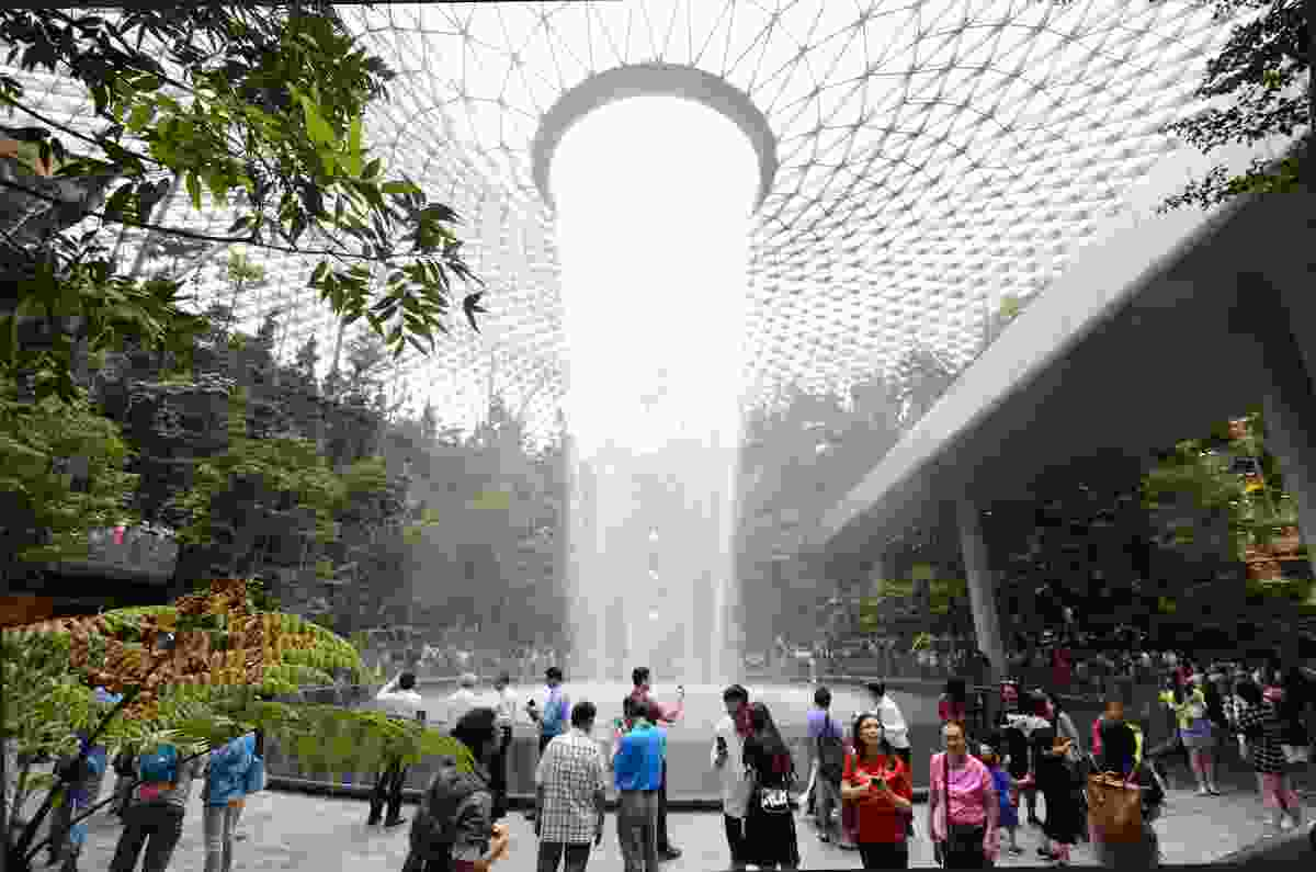 The Rain Vortex at Jewel Changi Airport, Singapore (Shutterstock)