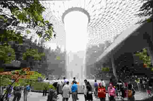 The Rain Vortex at Jewel Changi Airport, Singapore (Shutterstock)