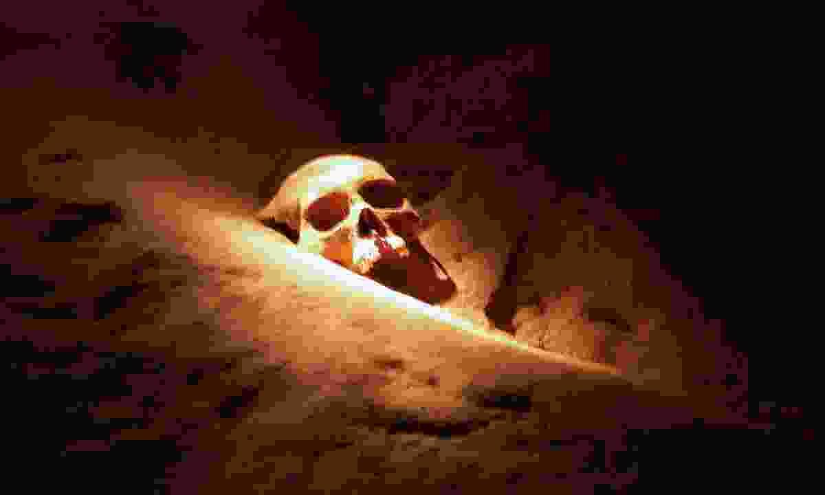 Skull in Actun Tunichil Muknal (Dreamstime)