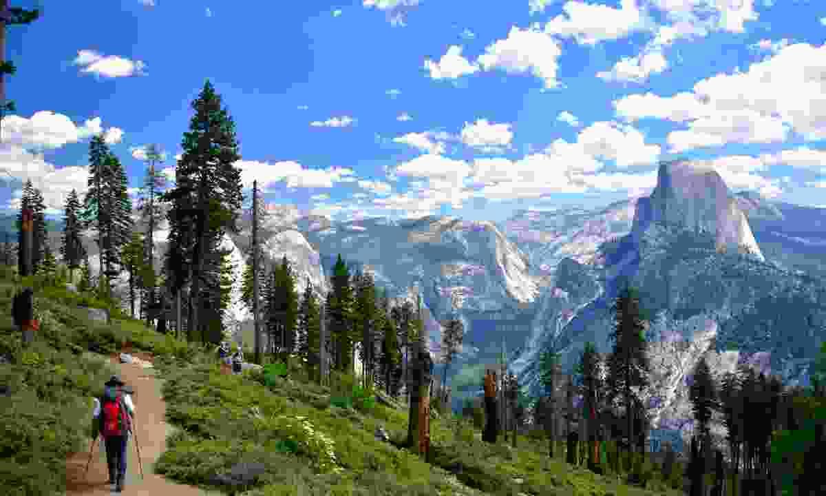 Climbing Half Dome (Dreamstime)