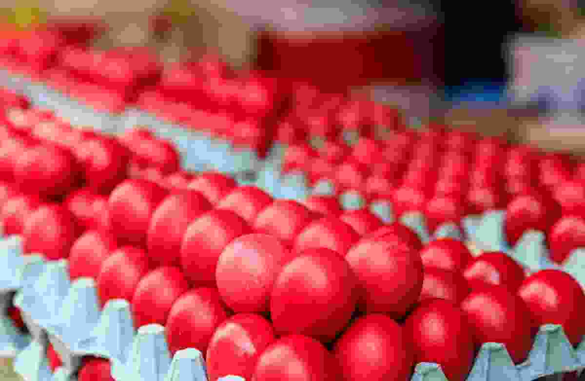 Red Easter eggs (Dreamstime)